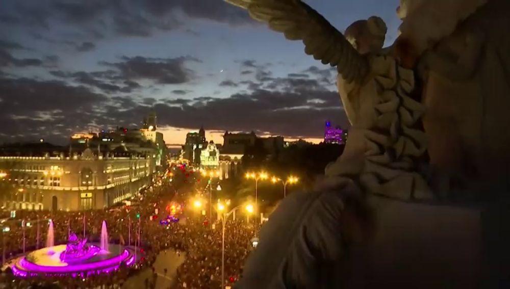 350.000 personas en Madrid y 200.000 en Barcelona asisten a la manifestación del 8-M