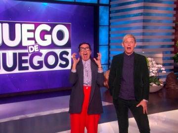 Silvia Abril hace reír a Ellen DeGeneres recreando sus pruebas favoritas de 'Juego de juegos'