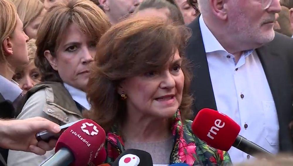 Carmen Calvo, Meritxell Batet, Inés Arrimadas e Irene montero: entre las figuras políticas presentes en la manifestación del 8-M