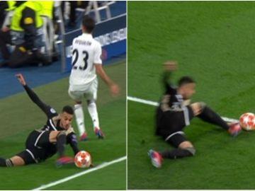 ¿Salió el balón en el tercer gol del Ajax ante el Madrid?