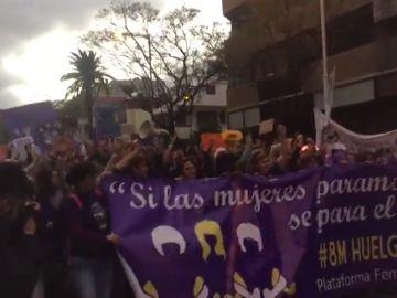 Así se vive la manifestación del 8 de marzo en Las Palmas de Gran Canaria.