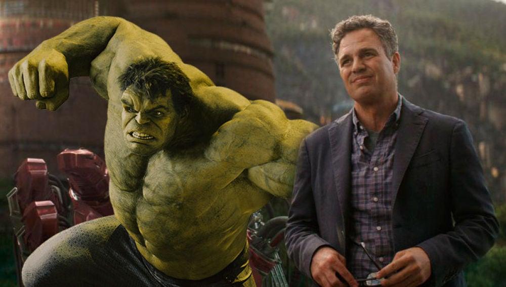 Hulk y Bruce Banner en 'Vengadores: Infinity War'