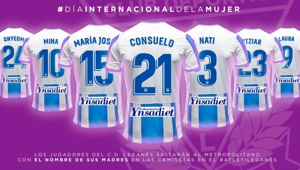Las camisetas del Leganés para el duelo del Wanda Metropolitano