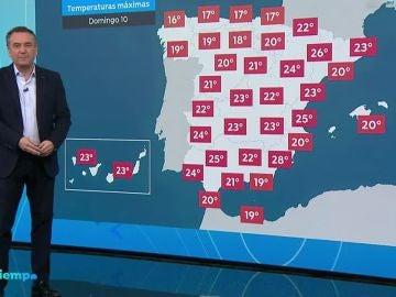 Cielo despejado y ascenso de las temperaturas durante el fin de semana