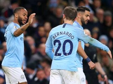 Sterling celebra un gol del Manchester City
