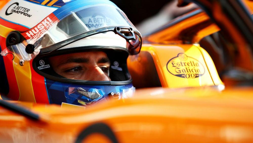 Carlos Sainz, en el McLaren