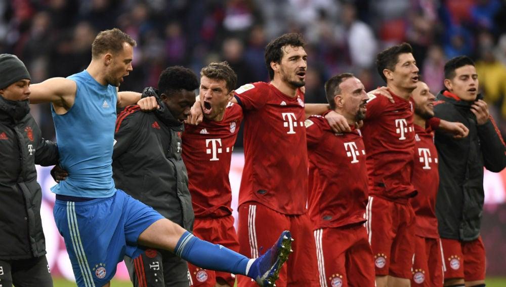 El Bayern celebra una victoria
