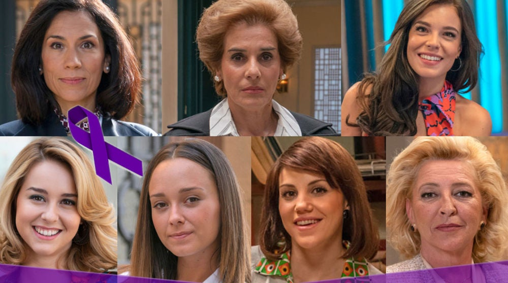 La particular y divertida manifestación de las actrices de 'Amar es para siempre' por el Día de la Mujer