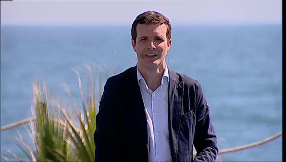 Casado reta a Sánchez a celebrar un debate electoral y decir si pedirá el aval de independentistas y Podemos