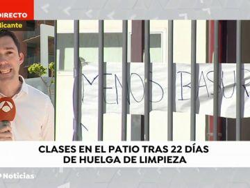 Huelga de limpieza en institutos de Valencia