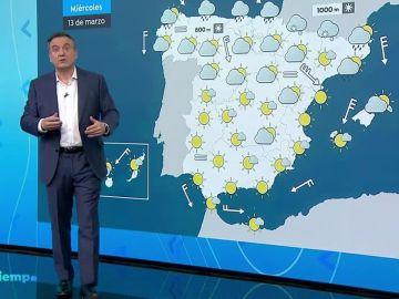 Descenso generalizado de las temperaturas y lluvias en el norte peninsular