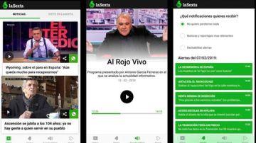 laSexta lanza una aplicación gratuita con todos sus vídeos y audios en directo