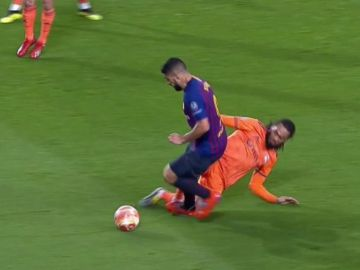 El penalti sobre Luis Suárez