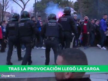 Seis ultras detenidos por los incidentes previos al partido Barcelona-Olympique de Lyon