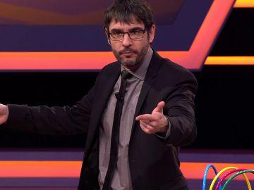 Juanra Bonet pide al público de '¡Boom!' que fomente la natalidad... ¡durante el programa!
