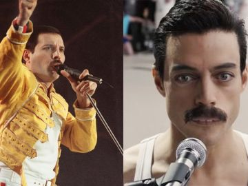 Freddie Mercury y Rami Malek en 'Bohemian Rhapsody'