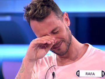 Las lágrimas de emoción de Rafa, el concursante bailarín de Palomares