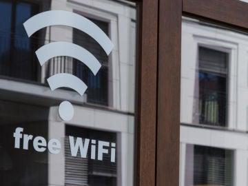 Señal de Wifi gratis en un establecimiento