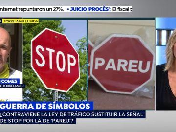 Un pueblo de Lleida cambia la señal de STOP por la de 'PAREU'
