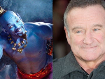Will Smith como el Genio y Robin Williams