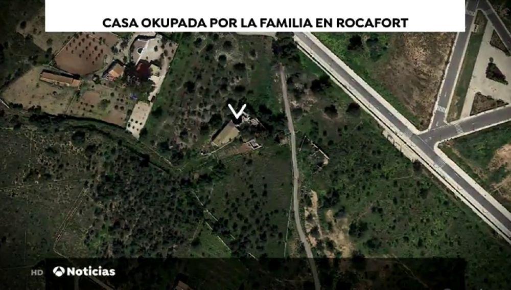Casa okupada por la familia en Rocafort