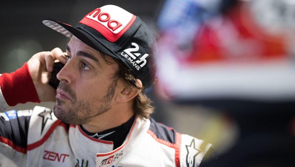 Fernando Alonso, durante el entrenamiento en el circuito de Sebring