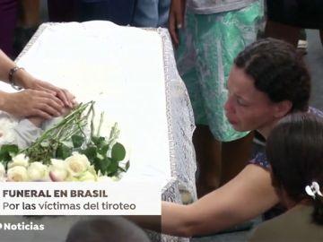 Funeral por las víctimas del tiroteo en una escuela de Brasil