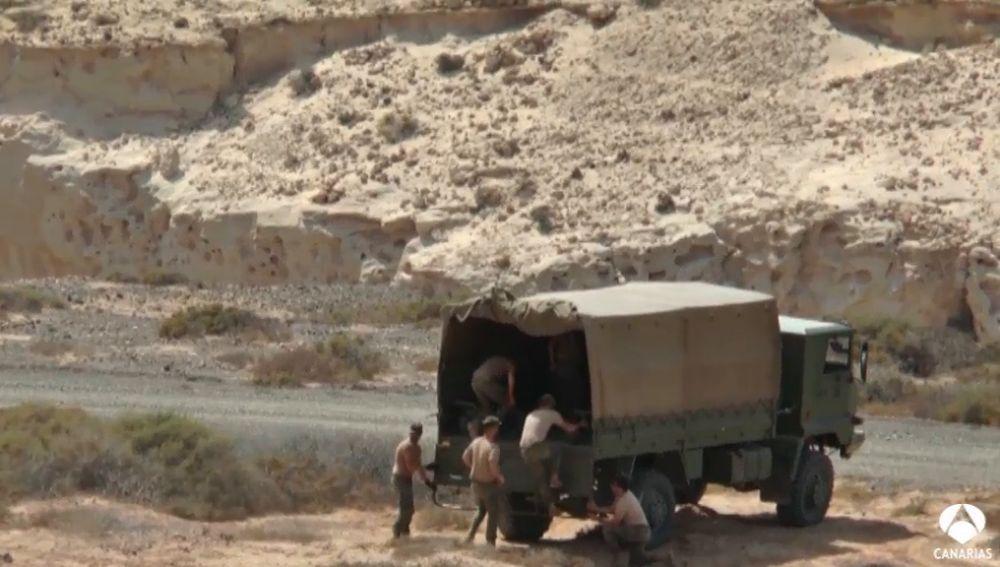 Fuerteventura como campo de entrenamiento para Irak