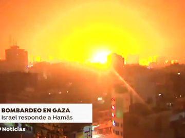 Israel bombardea Gaza tras el ataque con cohetes desde el norte de la franja palestina contra Tel Aviv