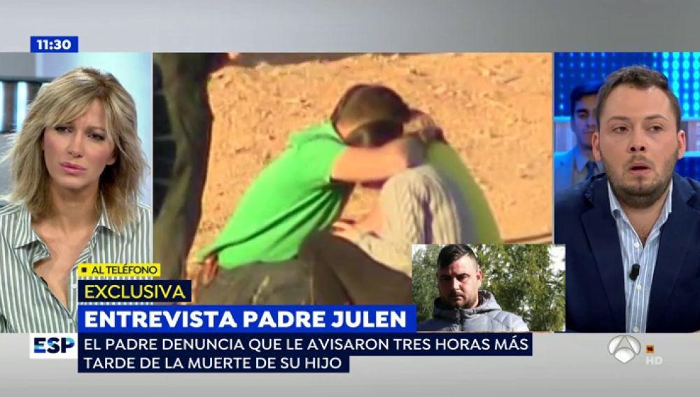 Primera entrevista con el padre de Julen en televisión