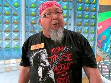 Kuky, el rockero que revoluciona 'La ruleta de la suerte'