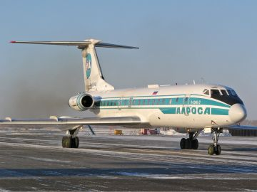 Avión de la aerolínea Alrosa