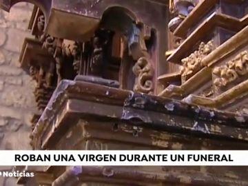Roban la imagen de una Virgen durante un entierro en Pantón, Lugo
