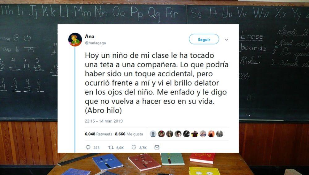 Lección viral de una profesora