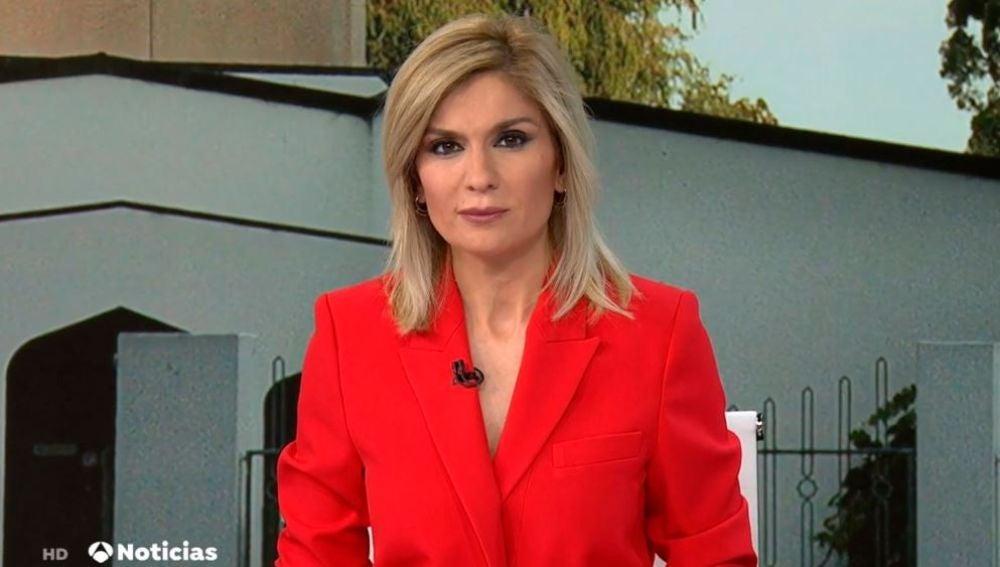 Sandra Golpe en Antena 3 Noticias 15/03/2019