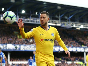 Hazard, durante un partido con el Chelsea