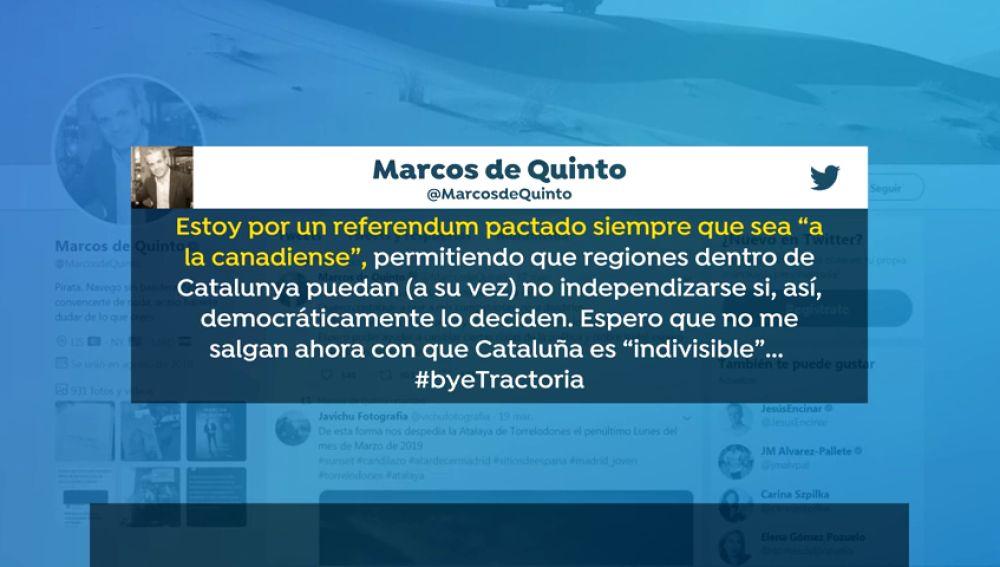 Marcos de Quinto defendía un referéndum a la canadiense para Cataluña