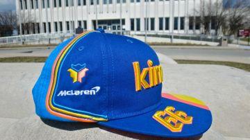 La gorra de Fernando Alonso para las 500 Millas de Indianápolis