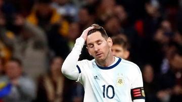 Messi, desesperado ante Venezuela