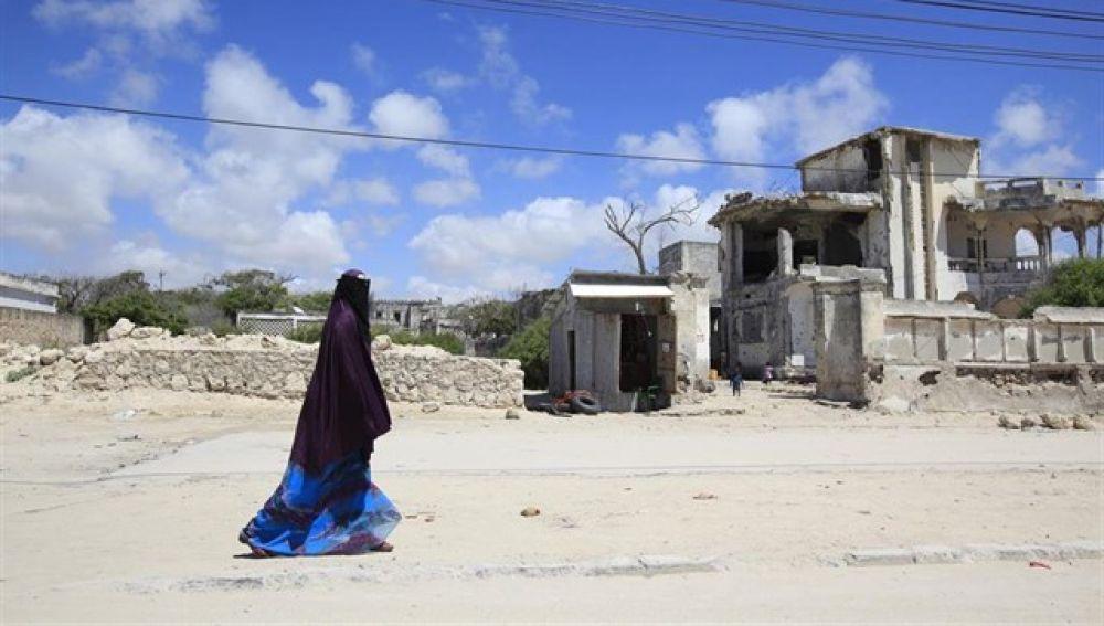 Imagen de archivo de una mujer en Puntlandia, Somalia.