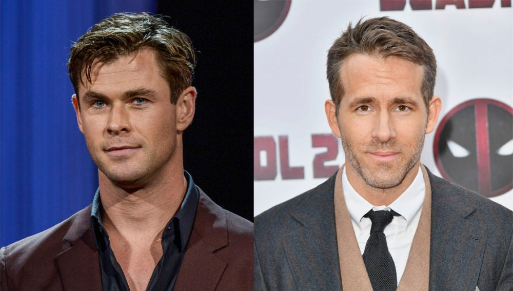 Chris Hemsworth y Ryan Reynolds