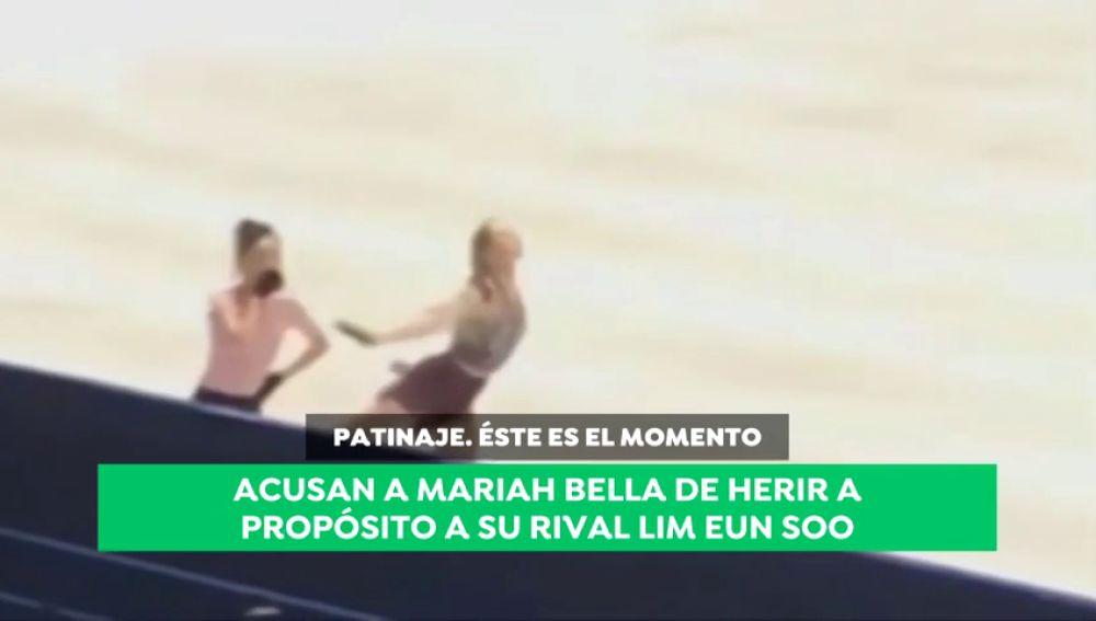 Acusan a la patinadora estadounidense Mariah Bell de lesionar a própoisto a la surcoreana Lim Eun Soo