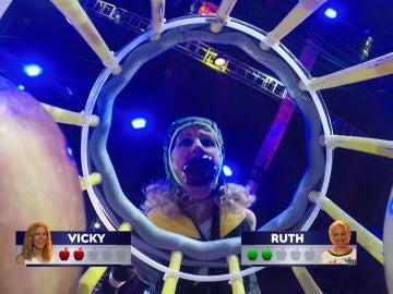 La dura competición entre Vicky y Ruth por las manzanas en Tira y afloja