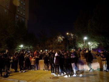Protesta vecinal en Vallecas