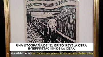 Una litografía de 'El Grito' revela otra interpretación de la obra