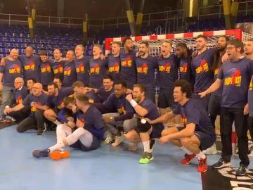 El Barça celebra su novena Liga ASOBAL seguida