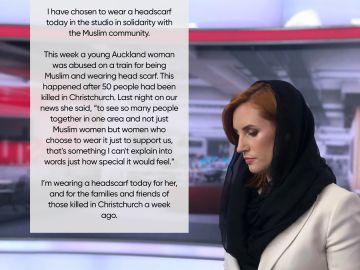 Samantha Hayes, presentadora de NewsHub