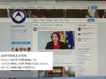 Antena3.com roza los nueve millones de visitantes