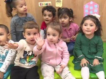 Niños de una guardería por horas