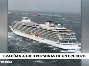 Crucero evacuado en Noruega